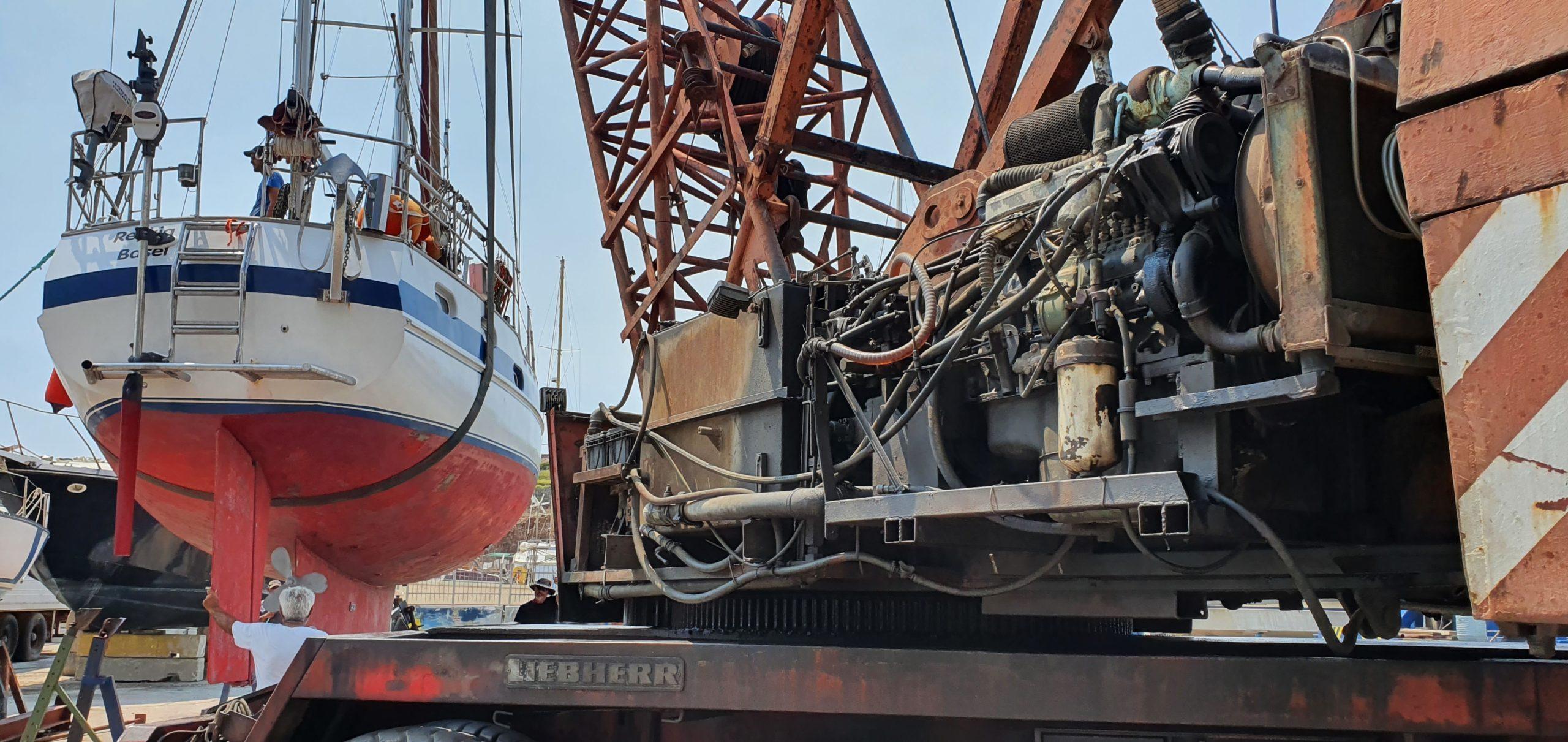 16 Tonnen REYKJA an Oldtimerkran